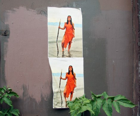 Pasted pages by someone (Lianne Charlie?) associated with the 2015 edition of Decolonizing Street Art