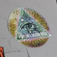Futur Lasor Now vinyl paste-up