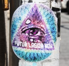 Futur Lasor Now vinyl sticker