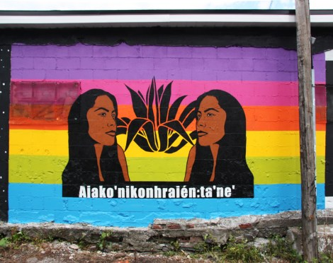 Melanie Cervantes mural for Decolonizing Street Art 2005