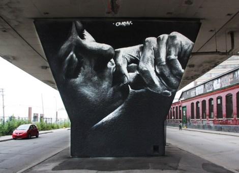 Omen mural for VHS - Van Horne Station event