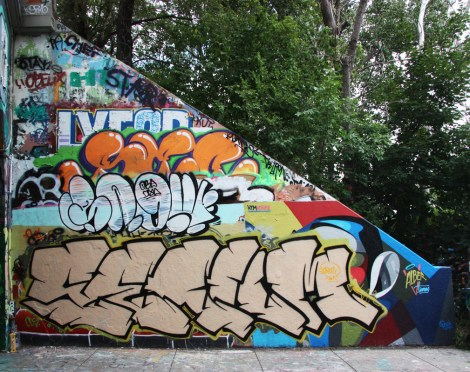 Serum at the Rouen tunnel legal graffiti walls