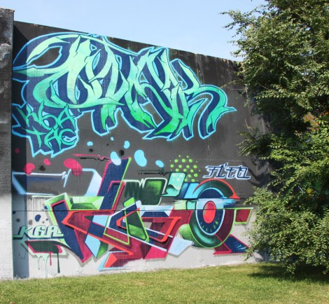Otak (top) and Fleo (bottom) at the 2015 Lachine graffiti jam