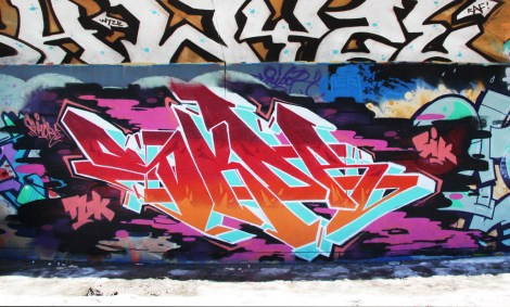 Skor at the PSC legal graffiti wall