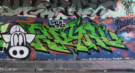 Royal at the Rouen legal graffiti tunnel