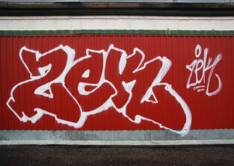 Zek throwie and tag at the abandoned Transco