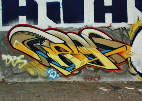 Cens piece in an abandoned building