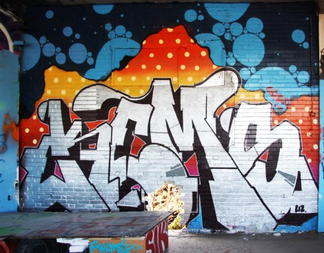 Kems piece in an abandoned building