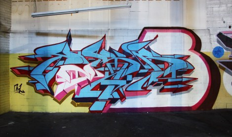 YesB piece in the abandoned Transco