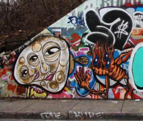 Biko Brideau at the Rouen legal graffiti tunnel