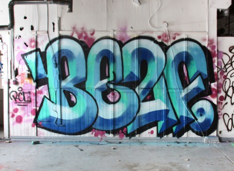 Beaf graffiti piece found in the abandoned Transco
