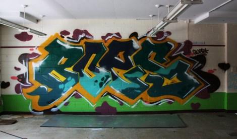 Boes graffiti piece found in urbex
