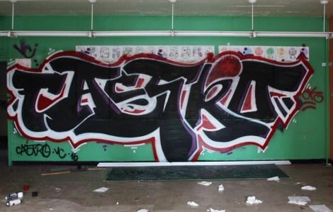 Castro graffiti piece found in urbex