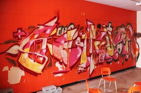 Gnius graffiti piece found in urbex