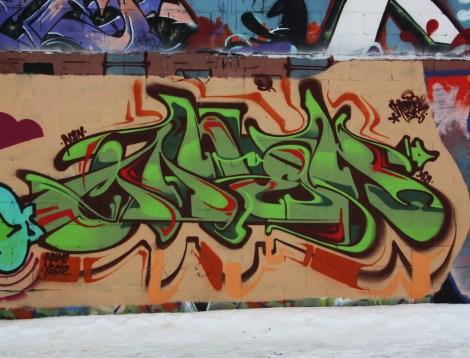 Janek graffiti piece found in Rosemont