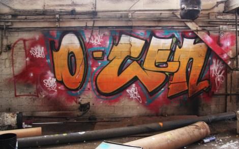 Noce graffiti piece found in the abandoned Transco