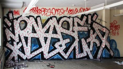 Rokos graffiti piece found in urbex