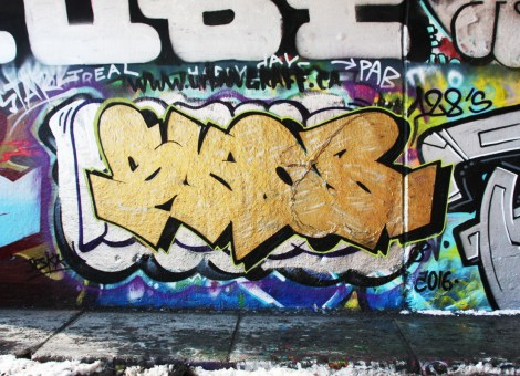 Skor at the Rouen legal graffiti tunnel