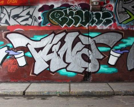 Tuna at the Rouen legal graffiti tunnel