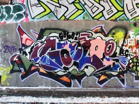 Golo aka Gaulois at the Rouen legal graffiti tunnel