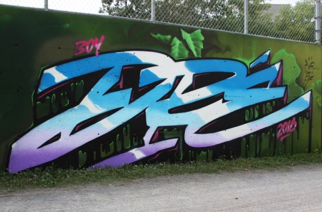 Dré aka Earth Crusher for the Chemin Vert block party