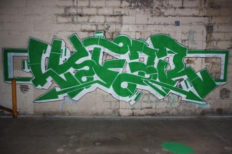 Lyfer inside an abandoned building in Hochelaga