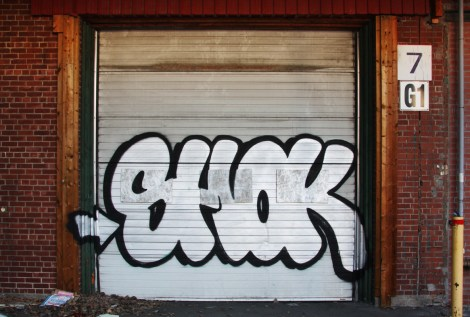 Shok on one of the abandoned Transco's outer walls
