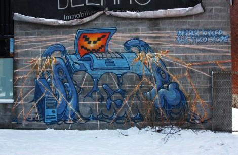 Algue mural piece in Villeray