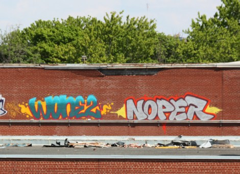 Wonez and Noper on industrial Hampstead rooftop