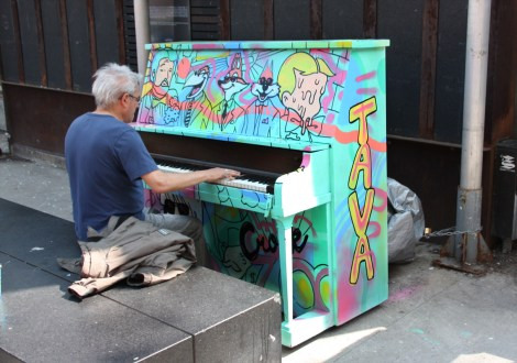 Tava on one of 2016's public pianos