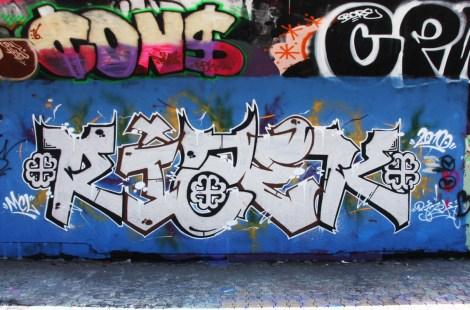 Rizek at the PSC legal graffiti wall
