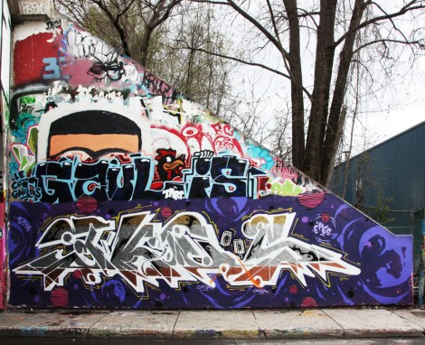 Ekes at the Rouen legal graffiti tunnel