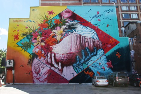 mural by Meggs for the 2016 edition of Mural Festival