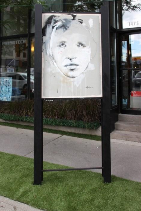 Melsa Montagne on sidewalk panel on Amherst for the 2016 edition of the MTL En Arts festival