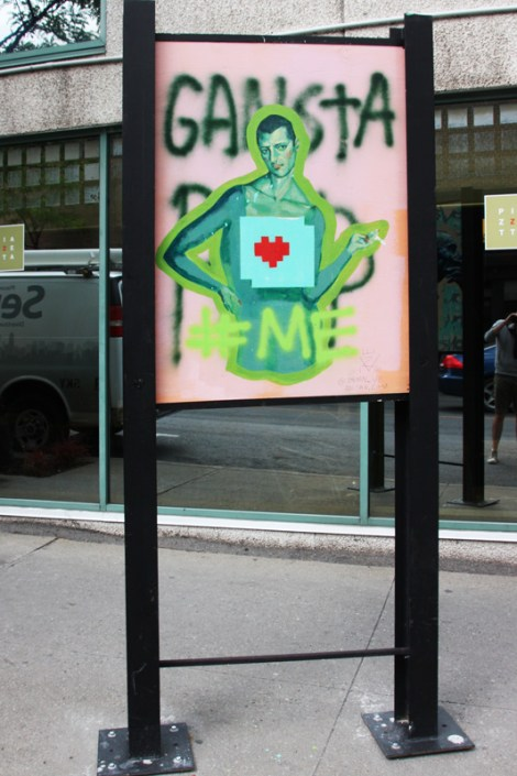 Zoltan VE on sidewalk panel on Amherst for the 2016 edition of the MTL En Arts festival