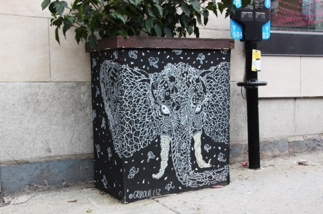 Gribouilliz on Amherst flowerpot for the 2016 edition of the MTL En Arts festival