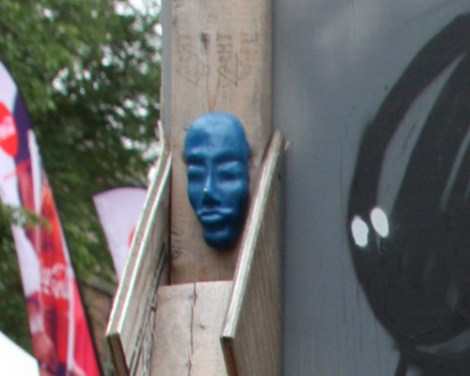 pasted head sculpture by Biko