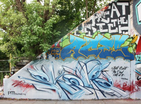 Skope at the Rouen legal graffiti tunnel