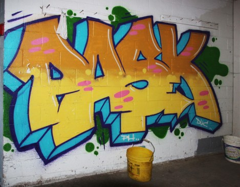 Pask in an abandoned stable