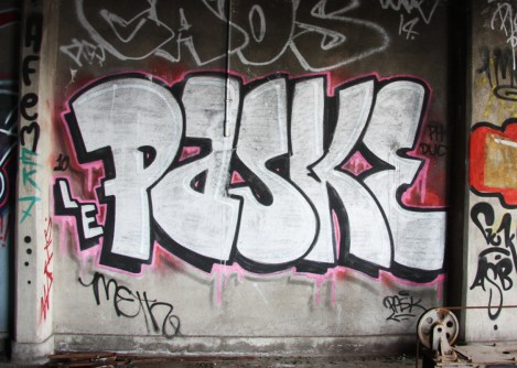 Pask inside abandoned building