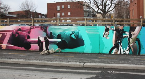 Detail by Hsix of a long wall done in collaboration with Zek in NDG