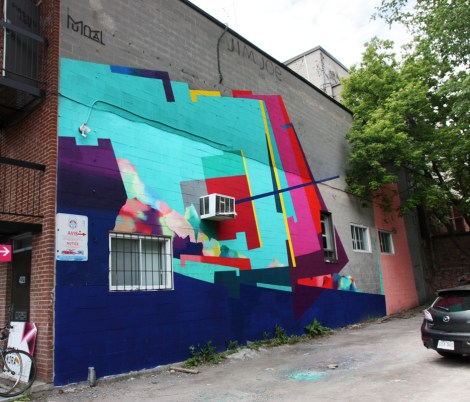 Nuria Mora's contribution to the 2017 edition of Mural Festival