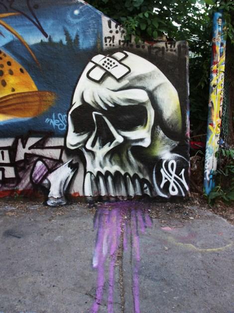 Axe at the Rouen legal graffiti wall