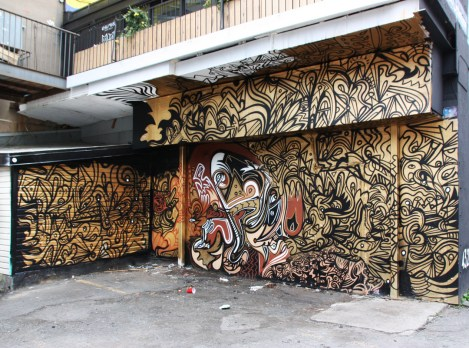 Jimmy Chiale mural done behind LNDMRK offices ahead of the 2017 edition of Mural Festival