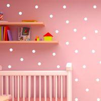 Polka Dot Wall Stickers Decal Childs Kids Vinyl Art home ...