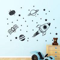 Rocket Outer Space Ship Vinyl Wall Sticker Decor Decal ...