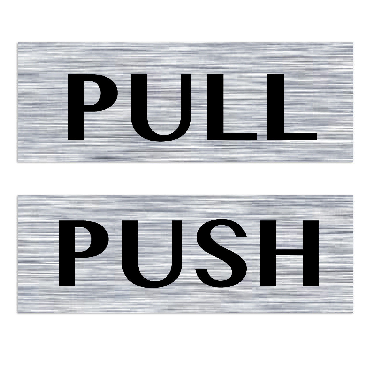 Pull Door Sticker Amp Image Is Loading 1pair Horizontal Push
