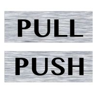 Pull Door Sticker & Image Is Loading 1Pair