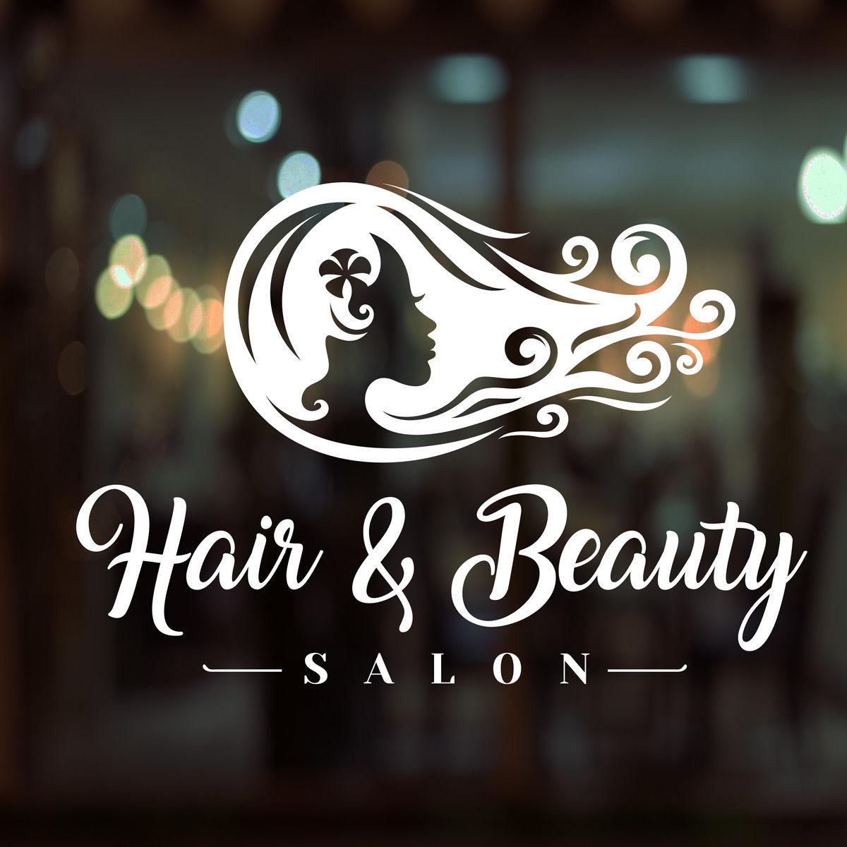 Hair Beauty Salon Shop Vinyl Sign Women Hairdressers