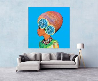 Jar Woman Canvas